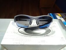 Oakley Flak Jacket XLJ 03-916 Sunglasses . Used . Dark Grey and Ice.