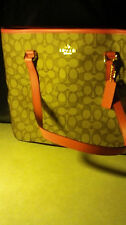 Lovely Khaki brown and pink Signature Coach Authentic Handbag NWT- Free Shipping