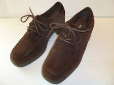 Hush Puppies Womens Shoes Size 7.5 Brown Suede Leather, 2 inch heels