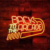 "Neon sign ""Back to the arcade"" bar/pub/internet bar/cafe/home decoration"