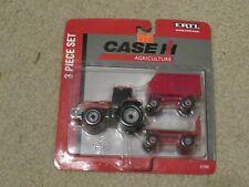 Ertl Case IH 3 Piece Set Machina Tractor + 2 Trailers 1:64 MOC 2007
