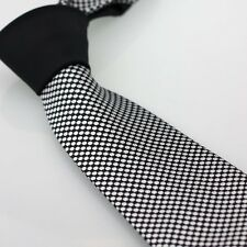 COACHELLA Ties Black Knot Contrast Black With Silver Dot Spot Necktie Formal Tie
