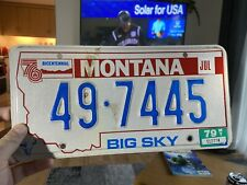 Montana License Plate Man Cave Sports Bar Uk Owned
