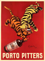 VINTAGE WINE BAR PRINT - PORTO PITTERS by Leonetto Cappiello 25x19 Poster