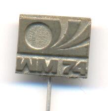 GERMANY 1974 FIFA Football World Cup WM 74 Fussball Anstecknadel Logo pin - MATT