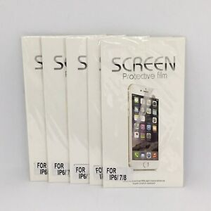 5x Clear Plastic Soft Screen Protector Film Guard For iPhone 6s 7 8 Plus X XS