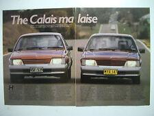 HOLDEN VK CALAIS V8 HI-PO MANUAL & VK CALAIS V8 AUTO 5 PAGE MAGAZINE ROAD TEST