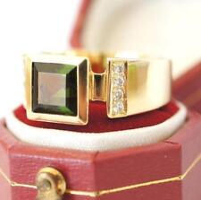 Exclusiver Ring in 750/000 Gelbgold mit Turmalin und Brillanten A1660