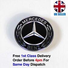 Mercedes Benz Black Wreath Flat Bonnet Badge Emblem A2048170616 NEW 57mm