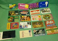 Lot of 19 1980's branded used phone cards