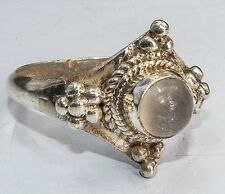 Sterling Silver Ethnic Asian Handmade Vintage Style Moonstone Ring Size L Gift