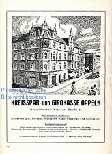 District Savings Bank Opole XXL 1925 German ad Silesia advertising ad +