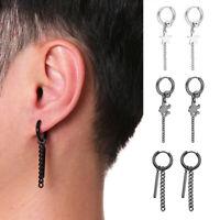 Stainless Steel Star Scorpion Punk Drop Dangle Earrings Statement Jewelry Gif MW