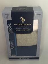 U.S. POLO ASSN. LIMITED EDITION MEN'S 3 PACK BOXER BRIEFS MULTI-COLOR SIZE XL