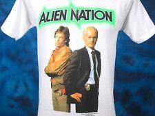 vintage 1990 ALIEN NATION TV SHOW PAPER THIN T-Shirt XXS sci fi movie 80s 90s