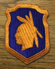 ORIGINAL WWII - U.S. 98th DIVISION PATCH - RIBBED WEAVE - FACIAL DETAILS