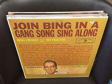 Bing Crosby Join BING in a Gang Song Sing Along vinyl LP EX 1961 Warner Bros MON
