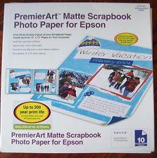 """3x Epson PremierArt Matte Scrapbook Photo Paper SCR1003 10 Sheets 12""""x12"""" 55LB"""