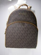 NWT Michael Kors Abbey Brown Acorn PVC Large Backpack School Book Bag MK