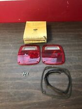 CHEVY GMC FORD INTERNATIONAL TRUCK TAIL LIGHT LAMP LENSES PAIR NORS GLO BRITE