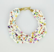 FAIRTRADE ETHNIC AFRICAN MASAI CHUNKY BOHO SUMMER BRACELET, HOLIDAY ACCESSORIES
