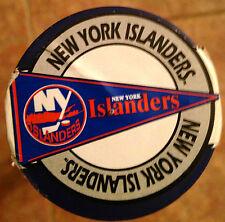 NY ISLANDERS VINTAGE JUMBO 20x49in VINYL WALL PENNANT NEW STILL IN TUBE RARE NHL