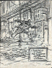 WILL EISNER  SPIRIT Artist Proof PORTFOLIO FANZINE UNPUBLISHED Art  SIGNED PRYOR