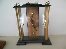 DEVILLE BLACK GOLD CARRIAGE STYLE QUARTZ CLOCK*NO RESERVE