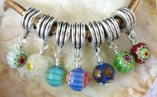 30PCS Mixed Millefiori Bead dangle for charm bracelet W7389