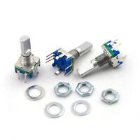 3Pcs/set 6mm D Shaft 18 Position 360 Degree Rotary Encoder w Push Button FYJKUJK