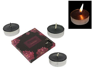 New 1pce 9 Pack of Opium Scented Black Tealight Candles in Gift Box