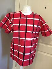 BNWT Women's Kenzo Scuba Red Check Print Top Size M