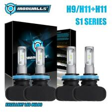 H9+H11 LED Headlight Bulbs High Low Beam Total 4200W for Toyota Tacoma 2016-2018