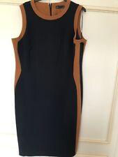 M&S Navy Rust Dress New Size 18