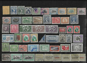 Guatemala 1878 - 1980  Lot of 68 Used and Mint Stamps