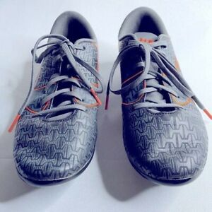 Under armour force cleats grey/orange size 5 youth