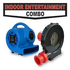 Indoor Entertainment Inflatable Bouncer Blower & Air Enhancement Blower Combo