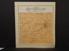 Wisconsin Fond Du Lac Couny Map Oakfield Township 1910 J11#41