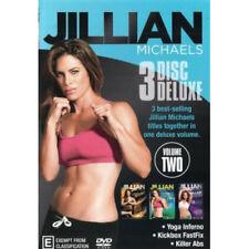 Jillian Michaels 3 Disc Deluxe (Yoga Inferno Kickbox Fast Fix Killer Abs) Vol 2