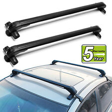 43'' Car Roof Rack Top Luggage Carrier without Rail Lockable For 4 or 5 Door Car