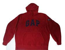 GAP Fleece Vintage Hoodie Men's Size M Red Spellout Logo Est. 1969