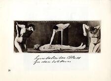 Käthe Kollwitz * Symbolisches Blatt zu den Webern * Historische Grafik 1930