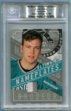 2003-04 BAP Ultimate Memorabilia Nameplates Martin Brodeur 31/40