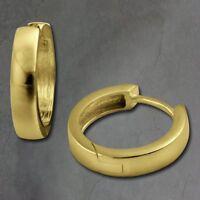 SilberDream Creolen 17mm gold Ohrringe Silber 333 vergoldet Damen SDO0017Y