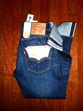 $128 LEVIS 501 WHITE OAK CONE MILLS SELVEDGE 1950s STYLE CUFFED BOTTOM JEANS 28