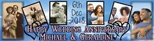 Wedding Anniversary Banner Personalized with photo -25th, 30th, 40th, 50th, 60th