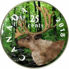2018-Canadian  Coloured Quarter Coin Deep Forest