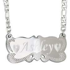 Personalized Bar Necklaces for Woman Engrave Name Necklace Silver US Seller