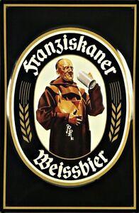 Blechschild Franziskaner Weissbier