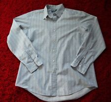 Polo Ralph Lauren Button Shirt, Long Sleeve. Large, Blue Striped, Tab Collar